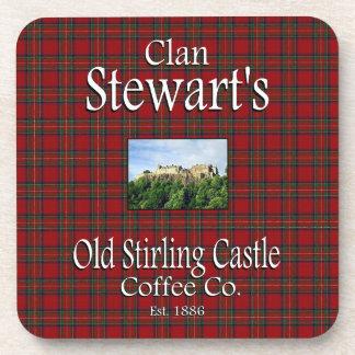 Café viejo Co. del castillo de Stirling de Stewart Posavasos De Bebidas