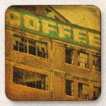 Café viejo posavasos de bebida