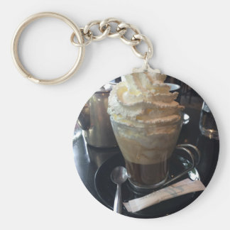 Cafe Viennois - Lots of Whipped Cream | Paris Basic Round Button Keychain
