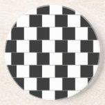 Cafe Wall Optical Illusion Horizontal Lines Drink Coasters