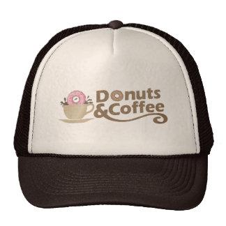 Café y anillos de espuma retros gorra
