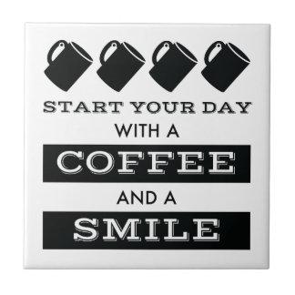 Café y baldosa cerámica de la sonrisa azulejo cuadrado pequeño