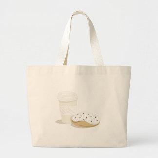 Café y buñuelo bolsas de mano