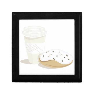 Café y buñuelo caja de recuerdo