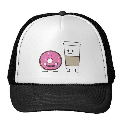 Café y buñuelo gorro de camionero