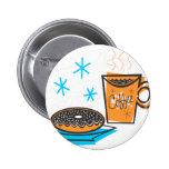 Café y buñuelo retros pin