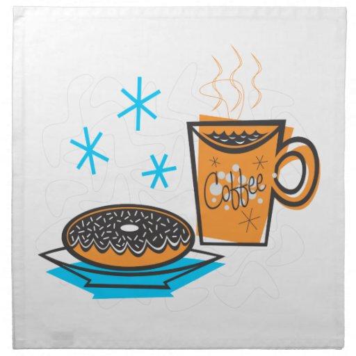 Café y buñuelo retros servilletas