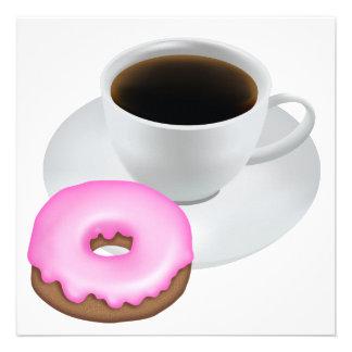 Café y buñuelos invitacion personalizada