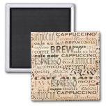 Café y crema iman de nevera