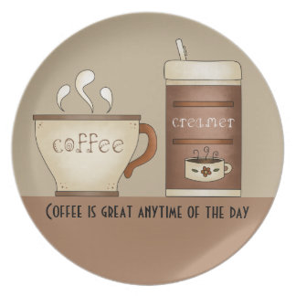 Café y desnatadora platos de comidas