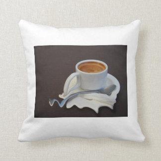 Café y día caliente cojines