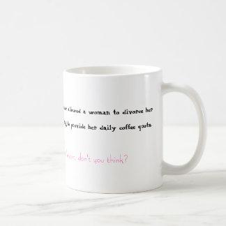 Café y divorcio taza