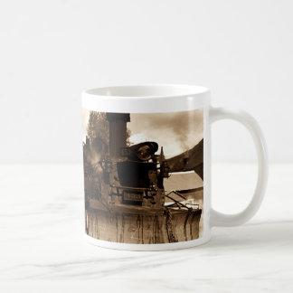 Café y escorias taza básica blanca