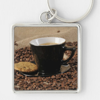 Café y galleta llavero