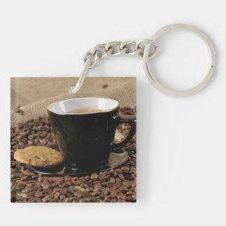 Café y galleta llaveros