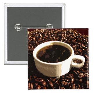 Café y habas pin cuadrada 5 cm