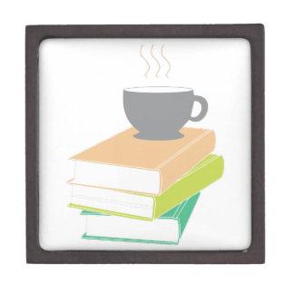 Café y libros caja de regalo de calidad