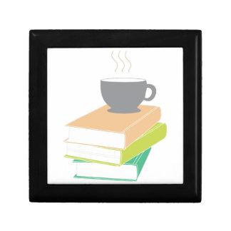Café y libros cajas de joyas