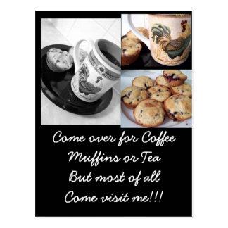 café y molletes 2, molletes del arándano, café… tarjetas postales