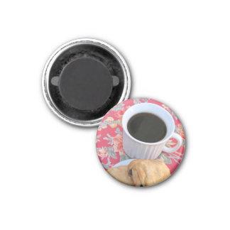 Café y pasteles imán redondo 3 cm