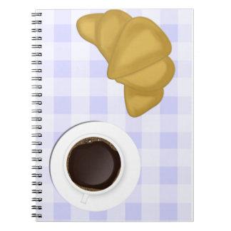 café y pasteles libro de apuntes con espiral