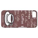 Café y taza de café personalizados iPhone 5 fundas