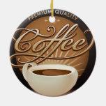 Café y taza de café superiores adornos
