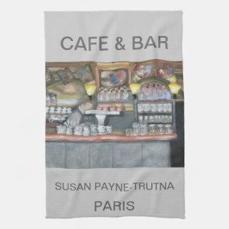 CAFÉ Y TOALLA DE PARÍS DE LA BARRA