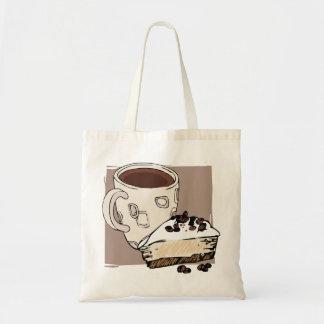 Café y torta bolsa tela barata