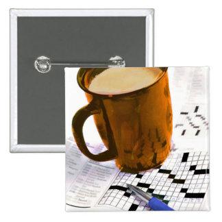 Café y un crucigrama pins