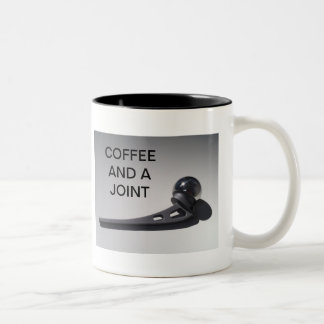 CAFÉ Y UNA JUNTA TAZA DOS TONOS