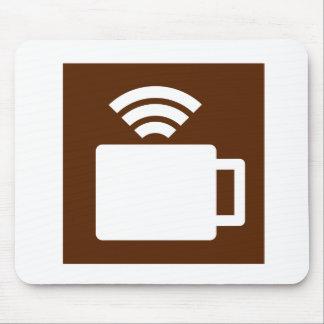 Café y Wi-Fi Alfombrillas De Ratón