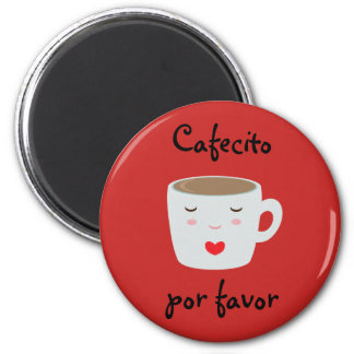 """Cafecito"" Spanish Magnet with Coffee Cup"