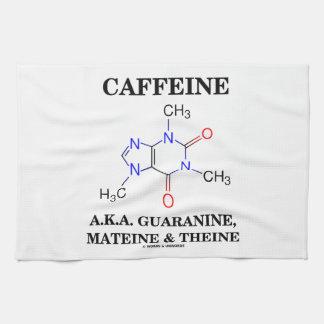 Cafeína A.K.A. Guaranine, Mateine y Theine Toalla De Cocina