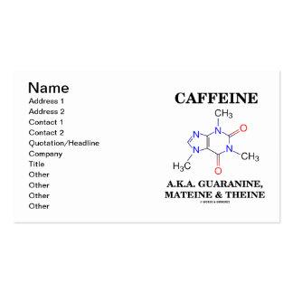 Cafeína A.K.A Guaranine Mateine y Theine Tarjetas De Visita