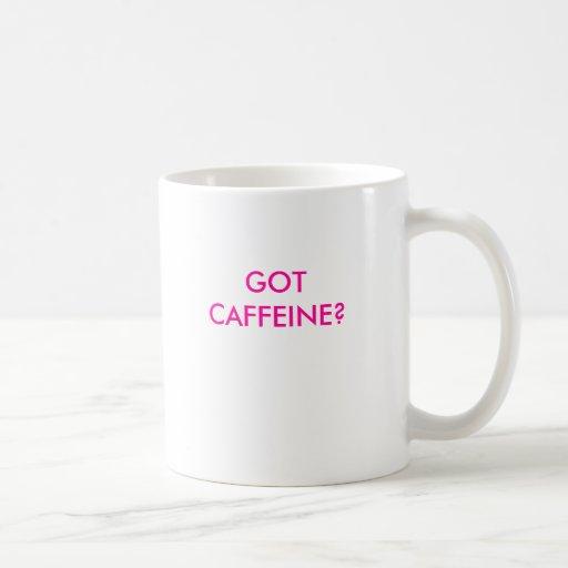 ¿CAFEÍNA CONSEGUIDO? TAZA BÁSICA BLANCA