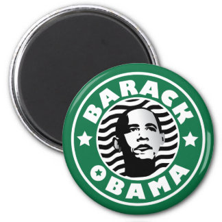 Cafeína de la estrella de Barack Obama Imán Redondo 5 Cm