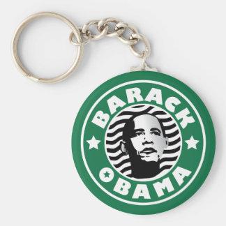 Cafeína de la estrella de Barack Obama Llavero Redondo Tipo Pin