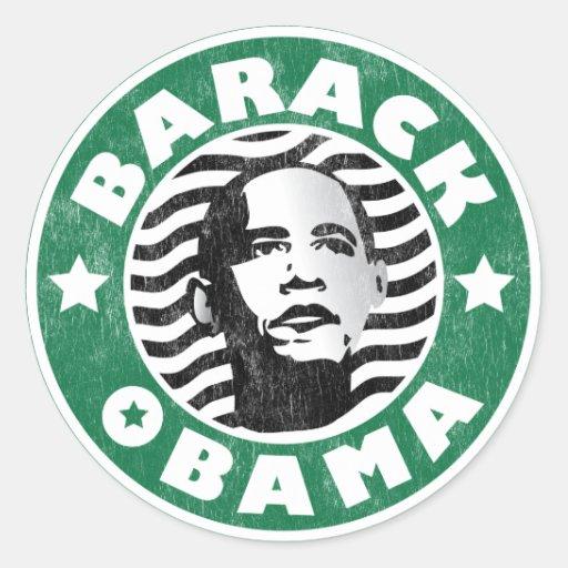Cafeína de la estrella de Barack Obama Pegatina