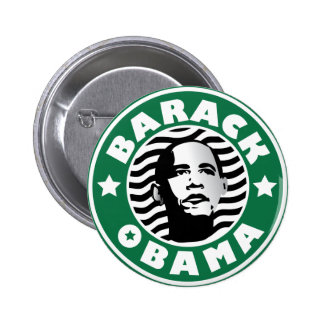 Cafeína de la estrella de Barack Obama Pin Redondo De 2 Pulgadas