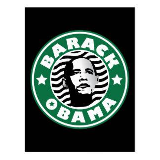 Cafeína de la estrella de Barack Obama Tarjeta Postal