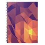 Cafeína de la mañana: Cuaderno espiral púrpura y a