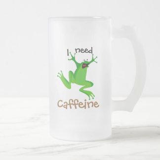 cafeína divertido -1 de la necesidad de la rana-Yo Taza De Café