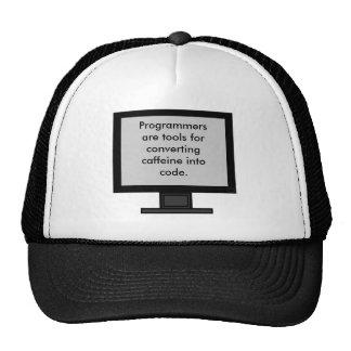 Cafeína en el gorra del código