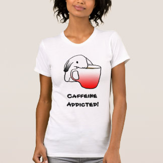 ¡Cafeína enviciado! camiseta del |
