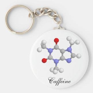 Cafeína Llavero Redondo Tipo Pin