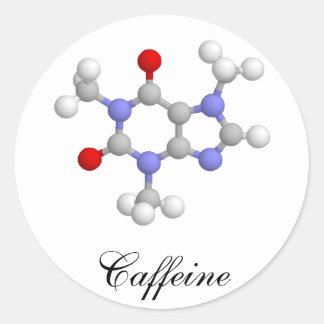 Cafeína Pegatina Redonda