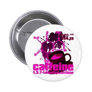 Cafeína Pin Redondo De 2 Pulgadas
