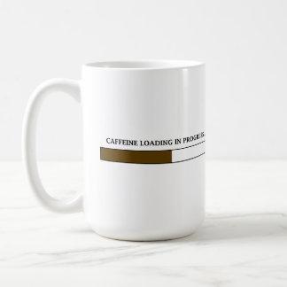 Cafeína que carga la taza en curso