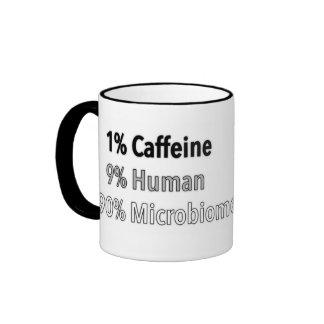 Cafeína, ser humano y Microbiome Taza De Dos Colores